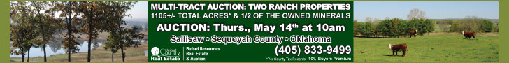 Auction of Two Ranch Properties, Salisaw, Oklahoma