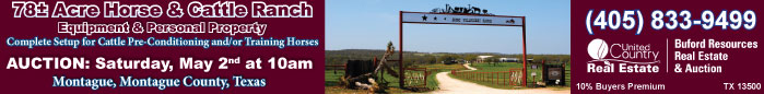 Auction Horse and Cattle Ranch, Montague, Texas