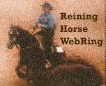 Reining Horse WebRing